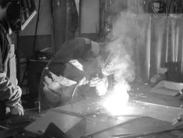 Metal Fabrication Students Welding