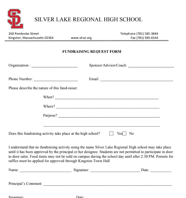 Fundraising Request Form