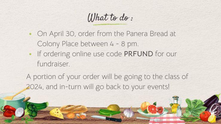 Class of 2024 Panera Bread Fundraiser