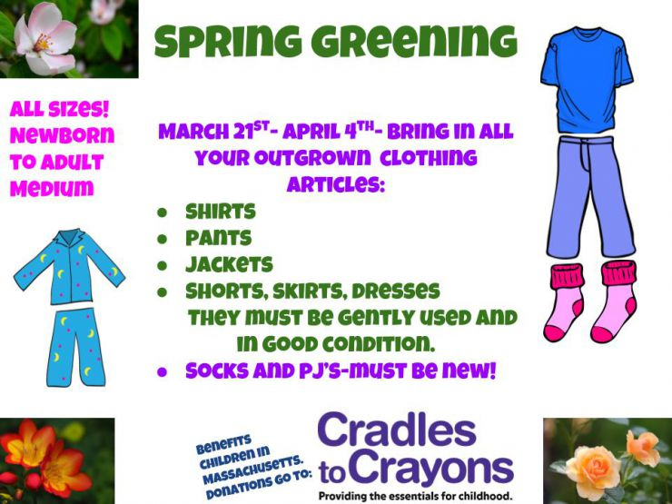 Spring Greening Clothing Drive