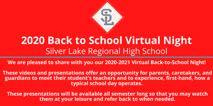 Back to School Virtual Night Informational Block and Page Link